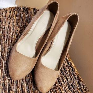 FOREVER 21 TAN PUMPS - size 6.5 nwot